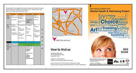 Blackfriars Settlement Mental Health and Well-being Project Leaflet Design