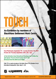 Touch Exhibition Poster